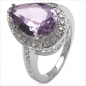 Preview: 33 Diamanten /1Amethyst-Ring 925 Sterl.Silber-3,80 Karat