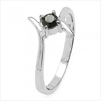 schmuck schmidt 24 edler schwarzer brillant diamant ring 925 sterl silber. Black Bedroom Furniture Sets. Home Design Ideas