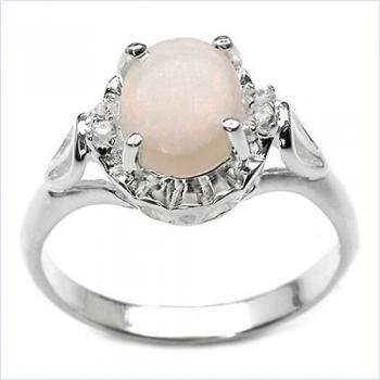 schmuck schmidt 24 edler wei er opal diamant ring silb rhodin 1 22 karat. Black Bedroom Furniture Sets. Home Design Ideas