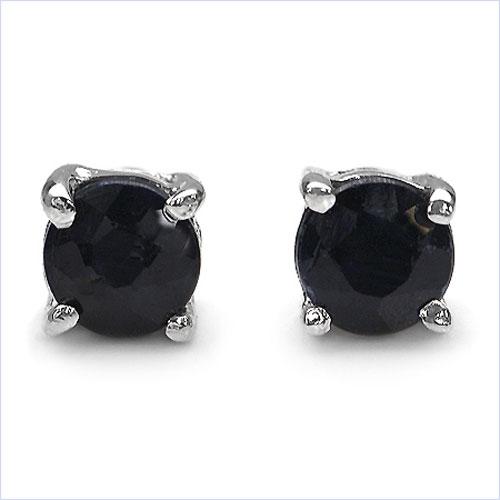 schmuck schmidt 24 ohrringe ohrstecker schwarze saphire. Black Bedroom Furniture Sets. Home Design Ideas