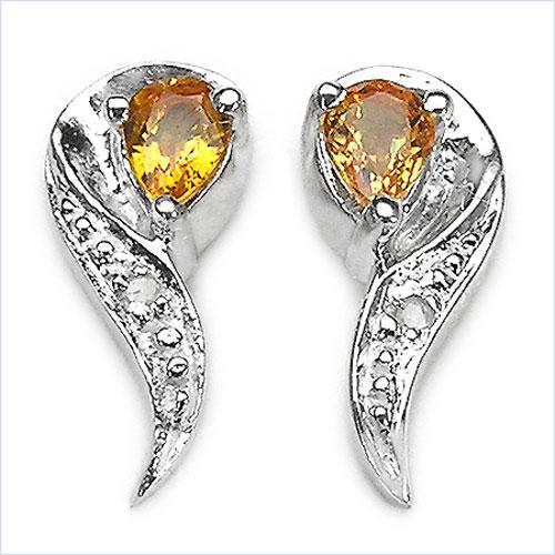 schmuck schmidt 24 diamant saphir ohrringe 925 silber rhodiniert 0 41karat. Black Bedroom Furniture Sets. Home Design Ideas