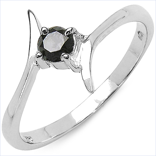 schmuck schmidt 24 edler schwarzer brilliant diamant ring 925 sterl silber. Black Bedroom Furniture Sets. Home Design Ideas