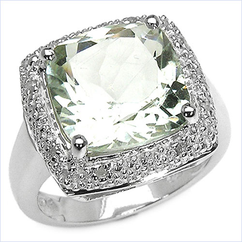 Diamantring verlobung  Schmuck-Schmidt-24 - Seltener Grüner Amethyst/Diamant-Ring-6 Karat ...